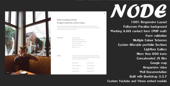 Node - Creative Resume / CV / Portfolio            TFx