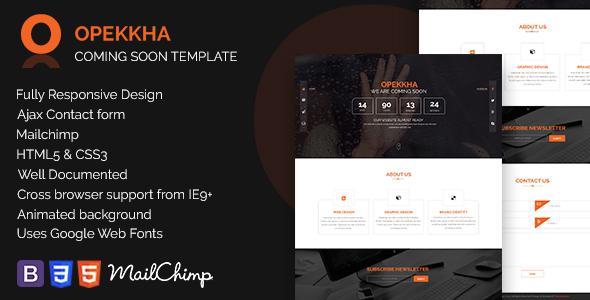 Opekkha - HTML5 Responsive Coming Soon Template            TFx
