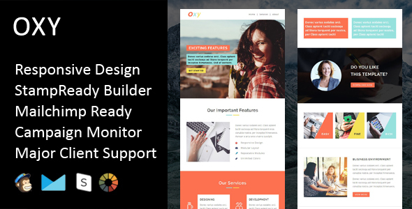 Oxy - Multipurpose Responsive Email Template + Stampready Builder            TFx