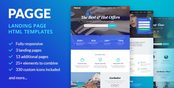 Pagge - Landing Page HTML Templates            TFx