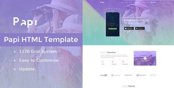 Papi App HTML Template            TFx