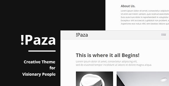 Paza - Minimal Portfolio Theme            TFx