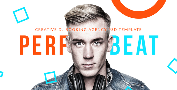 PerfectBeat - Creative DJ Booking Agency PSD Template            TFx