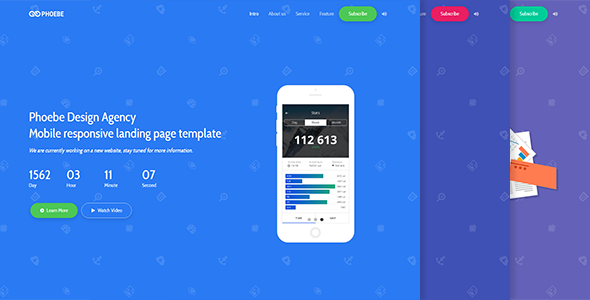 Phoebe - Responsive Coming Soon Page            TFx