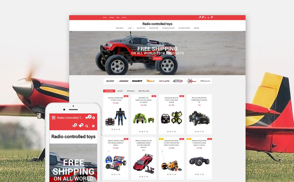Radio Controlled Toys Responsive OpenCart Template TMT