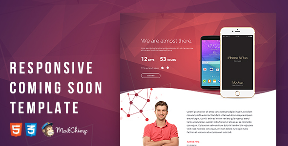 Responsive Coming Soon Template            TFx