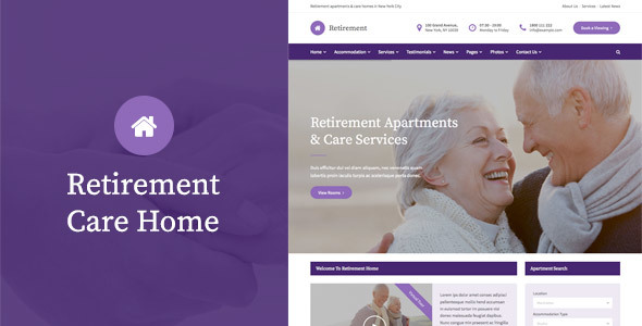 Retirement Care Home - WordPress Theme            TFx