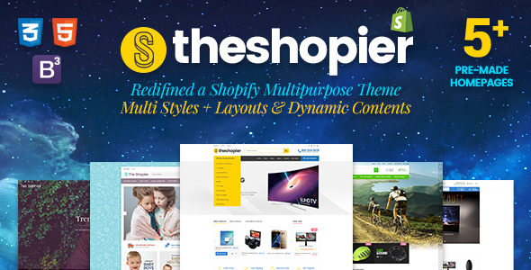 Shopier - Responsive Massive Dynamic Layout Shopify Theme            TFx