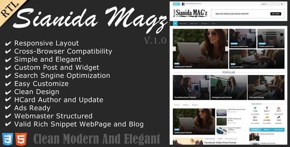 Sianida - Responsive Magazine Blogger Theme            TFx