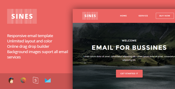 Sines - Multipurpose Responsive Email Template + Stampready Builder            TFx