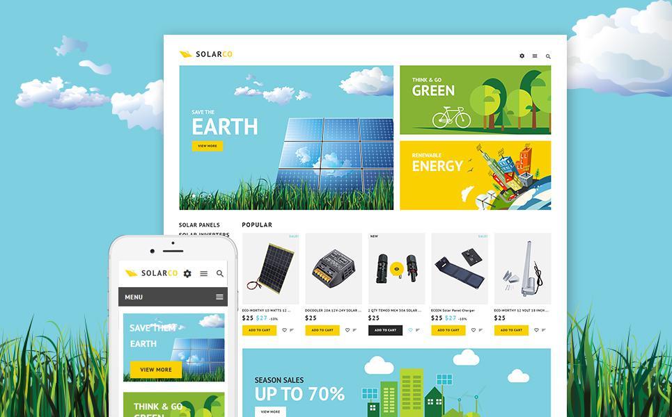 SolarCo - Solar Batteries & Accessories PrestaShop Theme TMT
