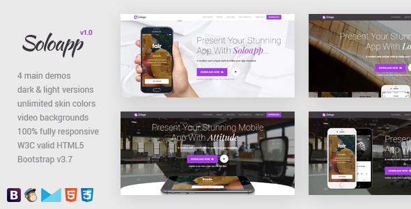 Soloapp - Responsive App Landing Pages            TFx