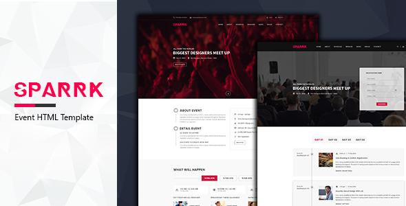Sparrk – Event Bootstrap Template            TFx