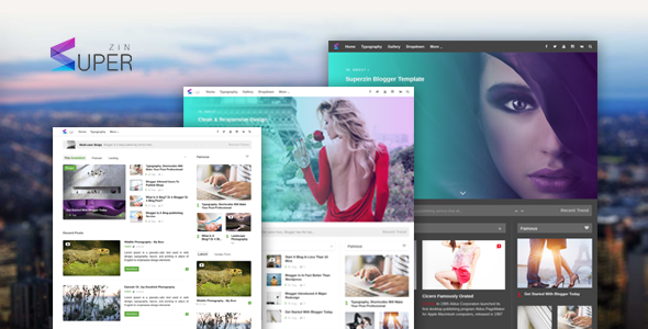 Superzin - Responsive Blogging & Magazine Blogger Template            TFx