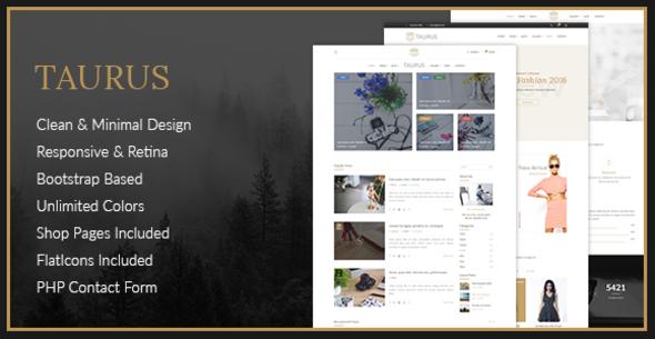 Taurus - Personal Blog HTML Template            TFx