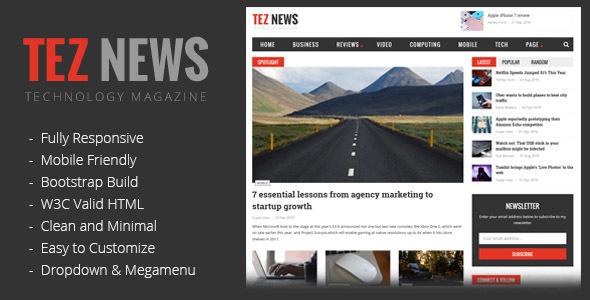 TezNews Magazine/News HTML5 Template            TFx