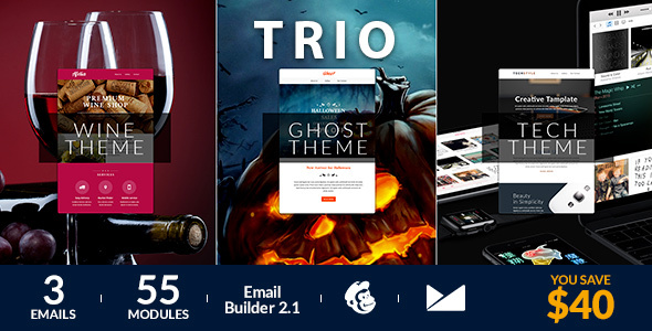 Trio Email Template + Online Emailbuilder 2.1            TFx
