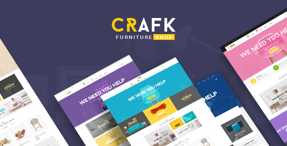 Ves Crafk Magento 2 Furniture Shop Template            TFx