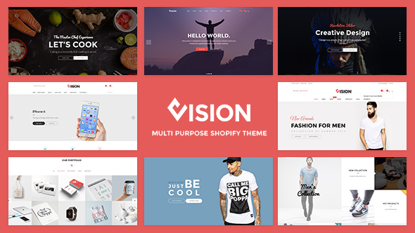 Vision - Drag Order Section For Fashion, Digital Shopify Theme            TFx