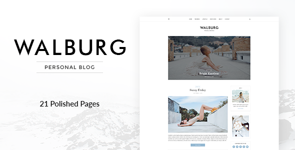 Walburg | Universal Personal Blog Template            TFx