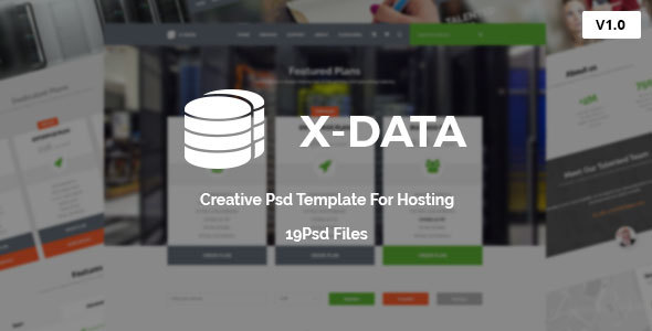 X-DATA - WHMCS & Hosting PSD Template            TFx