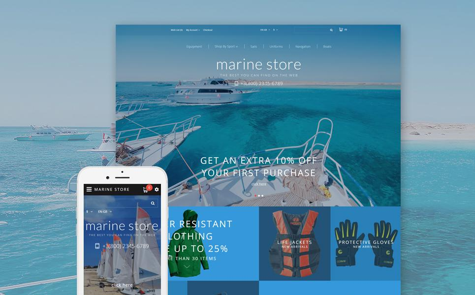 Yachting Responsive OpenCart Template TMT