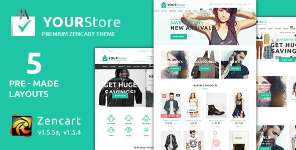 YourStore Premium Zencart Theme            TFx