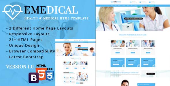 eMedical - Health & Medical Respnsive HTML5 Template            TFx