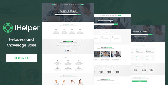 iHelper - Helpdesk and Knowledge Base Joomla Template            TFx