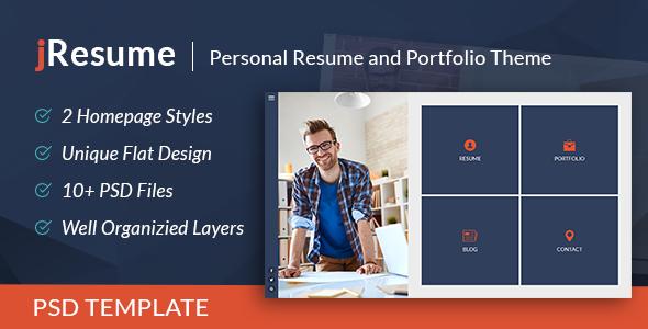 jResume - Creative vCard & Resume Portfolio PSD Template            TFx