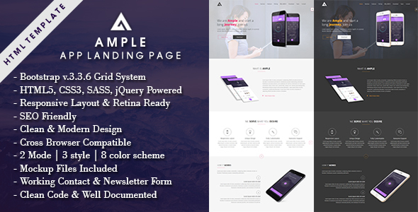 AMPLE - All In One App Landing Page            TFx