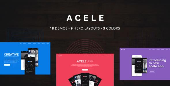 Acele - Multi Purpose App Showcase - Landing Page WordPress Theme            TFx
