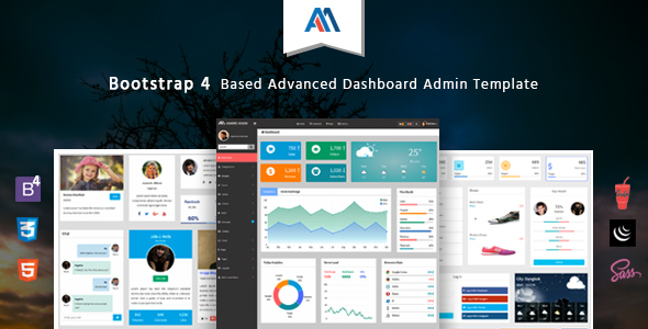 Admire - Bootstrap 4 Admin Template            TFx