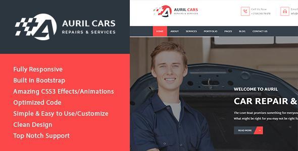 Auril - Car Mechanic Workshop HTML Template            TFx