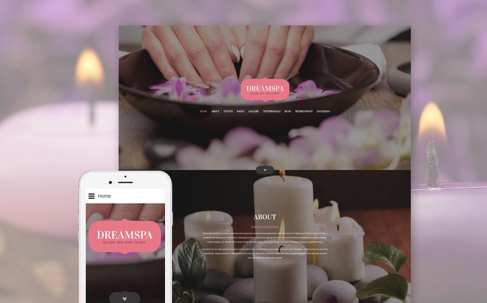 Beauty Salon Responsive Joomla Template TMT