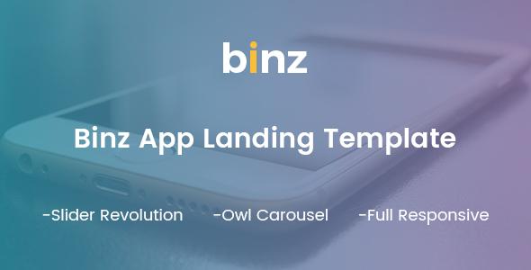 Binz App Landing Template            TFx