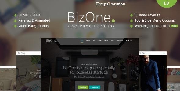 BizOne - One Page Parallax Drupal Theme            TFx
