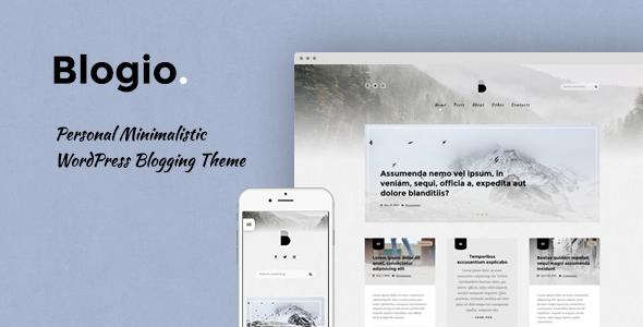 Blogio - Mini Personal WordPress Blog Theme            TFx