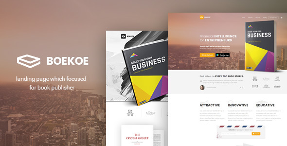 Boekoe - Book Landing Page            TFx