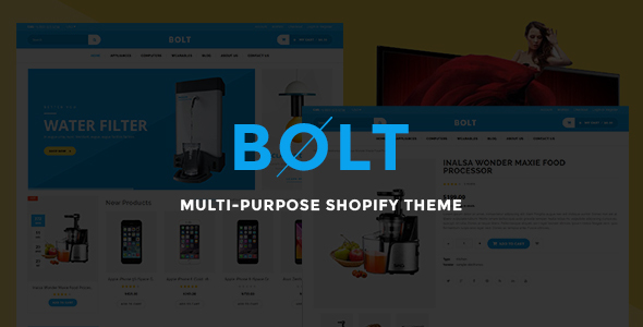 Bolt - Responsive Shopify Theme            TFx