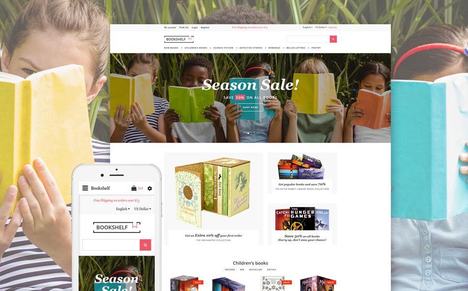 Book Store Responsive OpenCart Template TMT