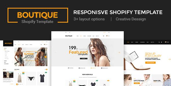 Boutique - Multi Store Responsive Shopify Theme            TFx