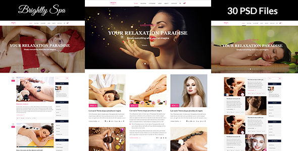 Brightly Spa - Beauty Blog - PSD Template            TFx