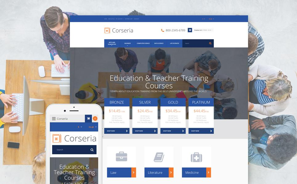 Career Education Responsive OpenCart Template TMT