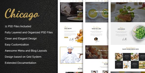 Chicago - Multi-Purpose Restaurant PSD Template            TFx
