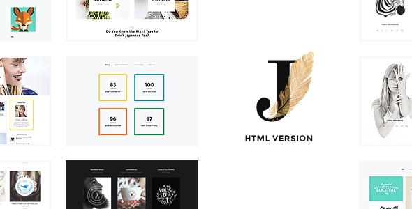 Cindy J   Creative Portfolio / Blog / CV HTML Theme            TFx