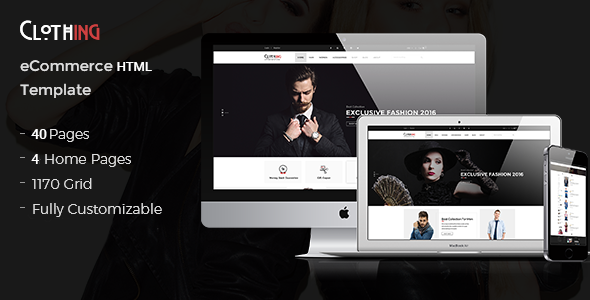 Clothing - eCommerce Fashion Template            TFx