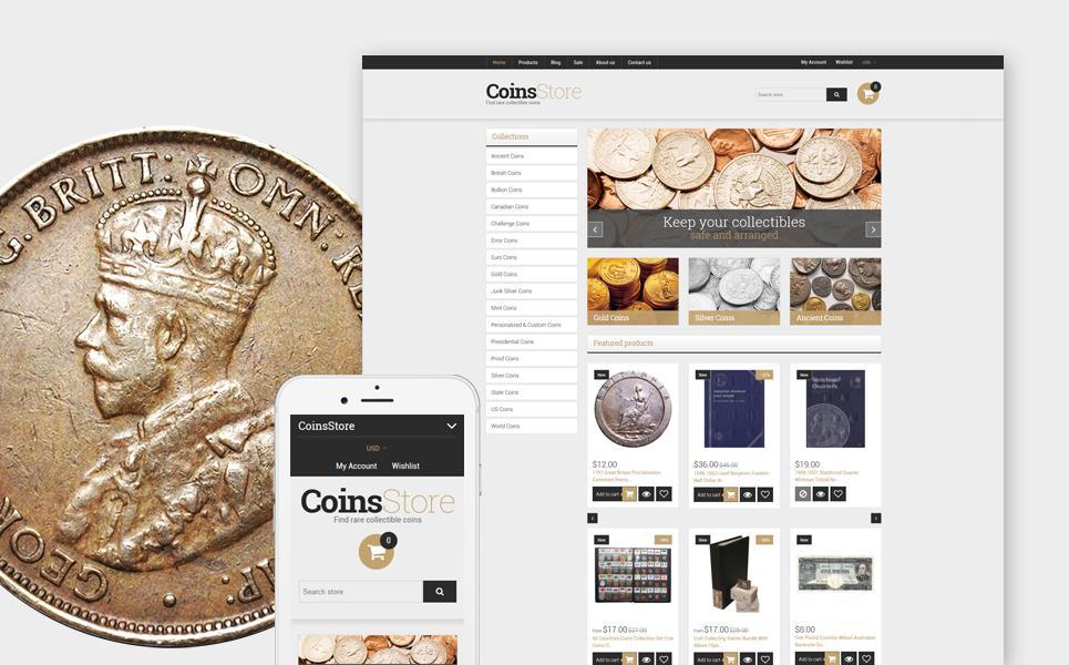 Collectible Coins & Supplies Shopify Theme TMT