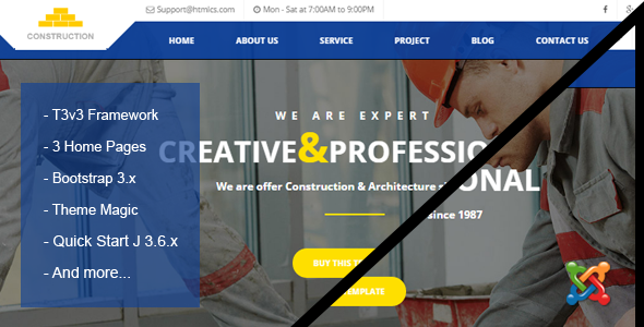 Construction & Building Business Joomla Theme            TFx