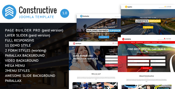 Constructive - Contractors Multipurpose Joomla Landing Page Theme            TFx
